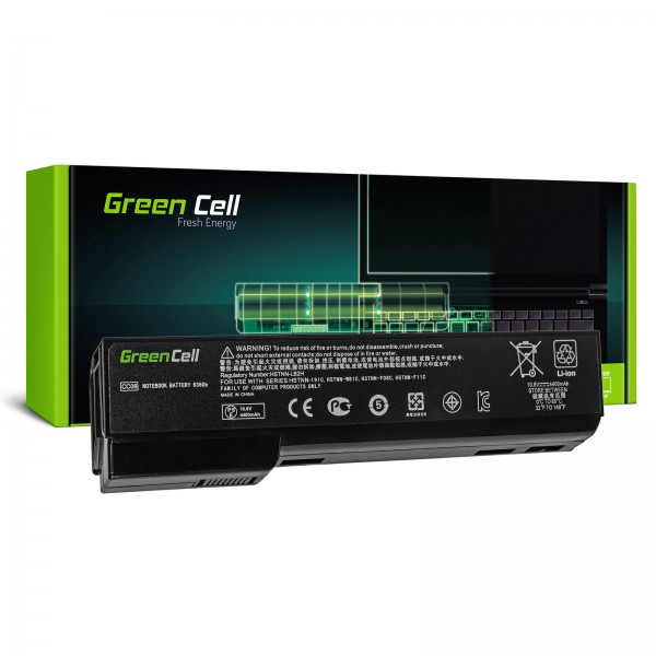 Battery HP Elitebook 8460 Probook 6560p Green Cell